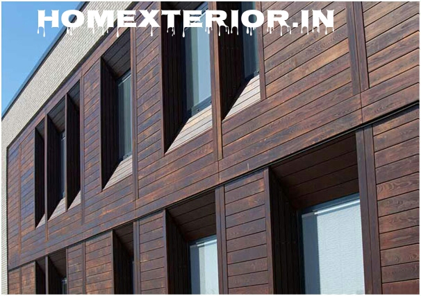 Elevation Woodwork : Solid wood cladding elevation contractors in delhi