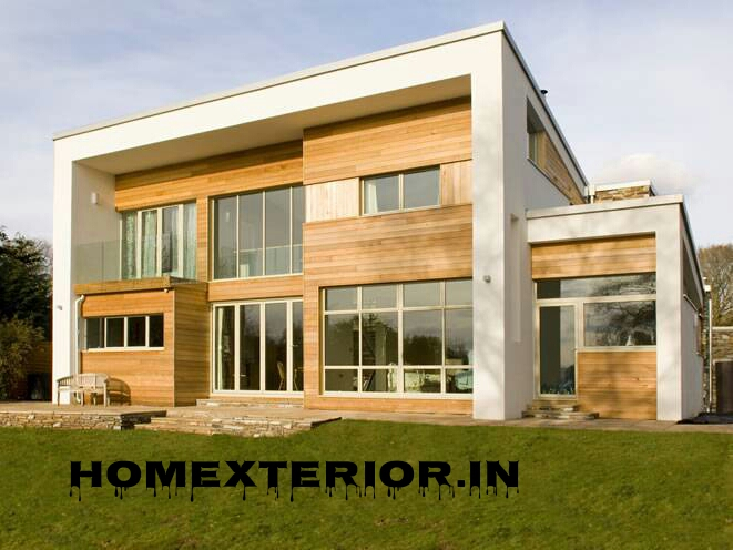 Wood Cladding Elevation : Solid wood cladding elevation contractors in delhi