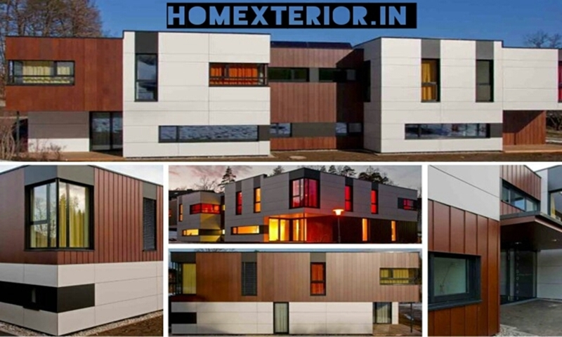 Acp Front Elevation Showroom Design : Hpl fundermax stylam ipe wood exterior cladding acp